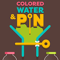 Colored Water and Pin