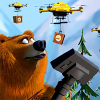 Grizzy and the Lemmings: Drone Drops