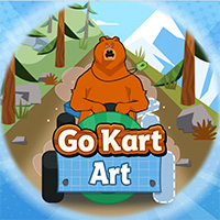 Grizzy and the Lemmings: Go Kart Art