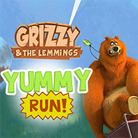Grizzy and the Lemmings: Yummy Run